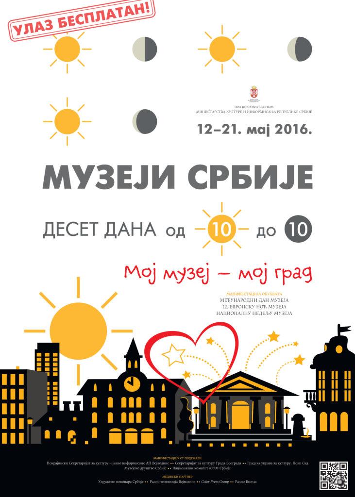 Muzeji Srbije 10 dana_Maj 2016